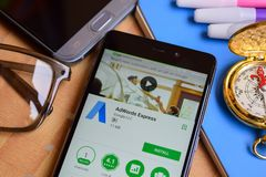 Adwords dev Ekspresowy zastosowanie na Smartphone ekranie zdjęcia stock