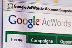 adwords google Royaltyfria Foton