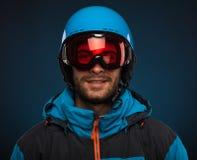 ady cieszy się portreta snowboarder zima Zdjęcia Royalty Free