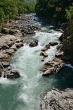 Beautiful landscape of the mountain river `White`. stock photos