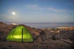 adyl高加索elbrus峡谷山区域su帐篷 免版税库存照片