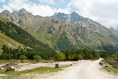 Adyr-su valley in Kabardino-Balkaria (Russia) Stock Photo