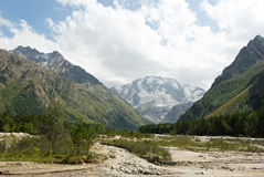 Adyr-su valley in Kabardino-Balkaria (Russia) Stock Photos