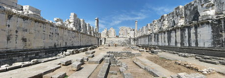 The adyton in the Temple of Apollo in Didyma stock photo
