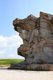 对在地下墓穴站点建立的Adzhimushkay猎物的防御者的纪念碑  库存图片