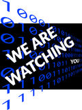 We Ae Watching You on black Stock Photography