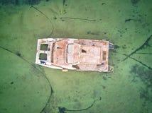 Aearial disparou no naufrágio do veleiro fotos de stock royalty free