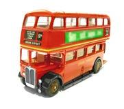 aec公车运送伦敦红色摄政的葡萄酒 库存照片