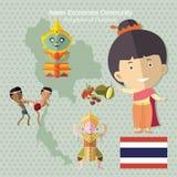 AEC Таиланд общины экономики АСЕАН Стоковая Фотография