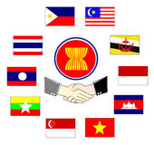 Aec asean economic community Royalty Free Stock Photos