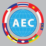 Aec or asean or info graphic south east asian design element Stock Photography