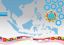 AEC or ASEAN or south east asian design element Royalty Free Stock Image