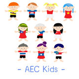 AEC Asian Kids. Kids from 10 Asian countries AEC Stock Photography
