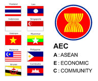 Aec flag and symbol Stock Photo