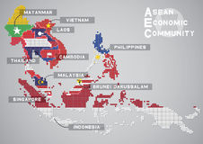 Aec map Royalty Free Stock Images