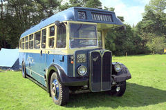 1949 AEC Regal III single decker bus. A 1949 AEC Regal III single decker bus on exhibit at Cromford Steam Rally, Tansley near Matlock, Derbyshire, England, UK stock photos