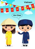 AEC-Vietnam. Vietnam traditional costume, aec, asean Stock Images