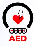 AED royalty free stock image