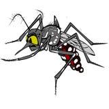 Aedes Aegypti-Illustration Lizenzfreie Stockfotos