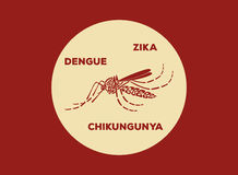 Aedes Aegypti mosquitoes logo vector Royalty Free Stock Photos