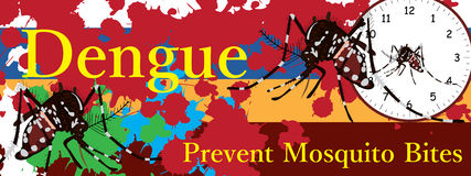 Aedes Albopictus banner Stock Photos