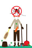 Aedes Albopictus prevent poster. This illustration is drawing Aedes Albopictus prevent poster and abstract doing and checking in white color background Stock Photos