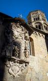 Aedicule oder Nische im alten Genua-Stadtzentrum Stockfoto