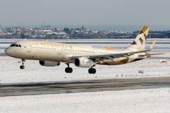A6-AEE Etihad Airways, аэробус A321-200 Стоковое Фото