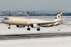 A6-AEE Etihad Airways, Luchtbus A321-200 Stock Foto