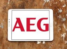 AEG电子公司商标 库存照片