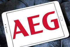 AEG电子公司商标 免版税库存照片
