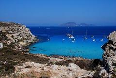 aegadian cala favignana海岛rossa 库存图片