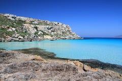 aegadian favignana意大利西西里岛 免版税库存照片
