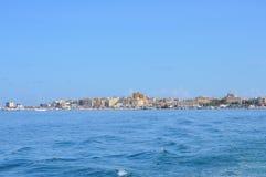 Aegadian-Inselstrand in Trapani Stockfoto