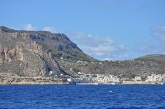 Aegadian-Inselstrand in Trapani Lizenzfreie Stockfotos