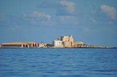 Aegadian-Inselstrand in Trapani Lizenzfreie Stockbilder