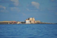 Aegadian-Inselstrand in Trapani Stockfotografie