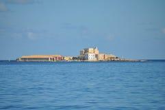 Aegadian-Inselstrand in Trapani Stockbilder