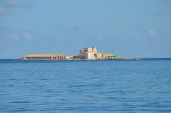 Aegadian-Inselstrand in Trapani Lizenzfreies Stockfoto