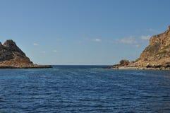 Aegadian-Inselstrand in Trapani Stockfotos