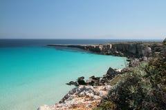 aegadian sicilia sicily för cala favignanarossa Arkivbilder