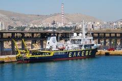Aegaeo badawczy naczynie, Piraeus Obraz Royalty Free