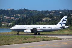 Aegean Airlines fotos de stock royalty free