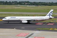Aegean Airlines Airbus A321-200 fotografia stock libera da diritti