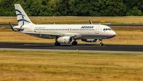 Aegean Airlines, Airbus A320, aviões foto de stock