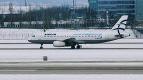 Aegean Airlines Airbus A320-200 SX-DGC almacen de video