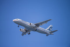 Aegean airlines, greece, airbus a320 Stock Photography