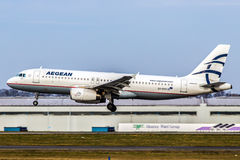 Aegean Airlines Stock Photo