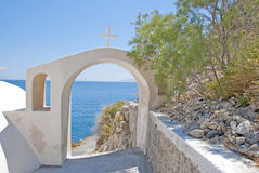 Aegean through Archway Stock Photography