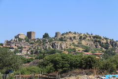 Aegean area - Assos Castle,  Temple of Athena, Royalty Free Stock Image